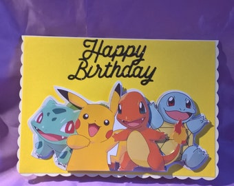 bulbasaur birthday  etsy, Birthday card