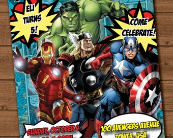 Avengers birthday party invite file