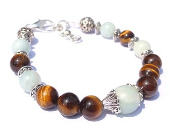 Bracelet of wealth-Wealth-Money-Fortune-Lucky Bracelet-Good Luck-Success-Tiger Eye-Amazonite