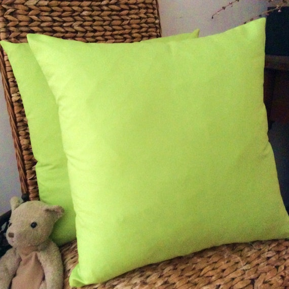 Lime Green Soft Microfibre Cushion cover 40cm x 40cm