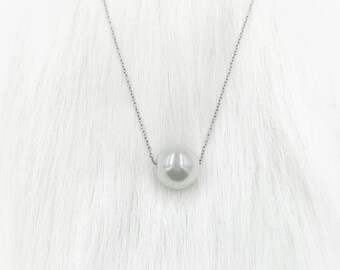 Pearl Girl Silver Necklace