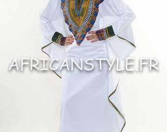 Robe abaya diamant wax Addis-Abeba violet