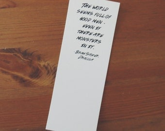 The World Seems Full of Good Men - Dracula Book Quote Bookmark