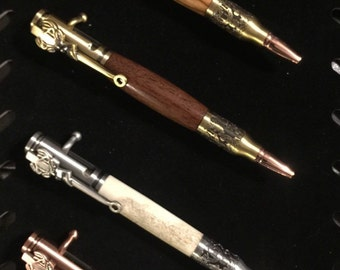 Bolt Action Deer Hunter Bullet Pen, Birthday gift, hunter gift, Father's Day gift, gift for him