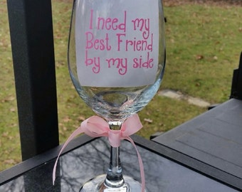 Bridesmaids Wine Glasses