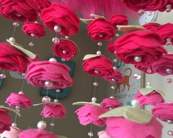 Pink ombre mobile with tulle tutu top