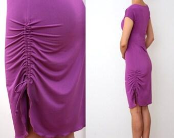 NEW* Black or Violet - Draped tango dress