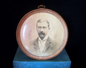 Very Old Photograph in Round Frame