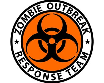 "Zombie Outbreak Response Team 5"" sticker - 4 Stlyes to choose from!! High Quality Printed Vinyl"