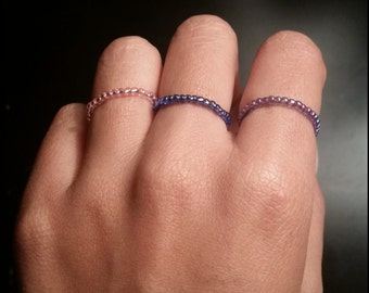 stackable beaded rings