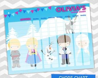 Frozen Chore Chart / Kids Chore Chart / Printable File
