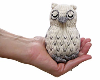 Organic Baby Rattle Owl Toy- Organic and Eco Friendly Toys - Baby Shower Gift