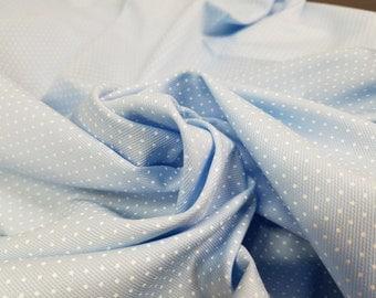 100% Cotton Light Blue Polk A Dot Print (remnant piece)
