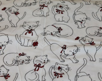 1 1/2  yards Purrfect Kitty Cat Fabric - Flannel