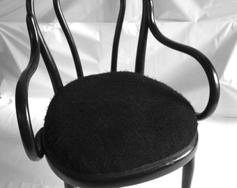 Bentwood Easy Chair, Antique 'Thonet' Vienna Chair, Bentwood Upholstered Chair.