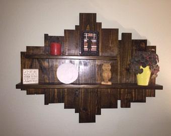 Rustic Wood Wall Art, Decorative Wall Shelf, Wall Art with Shelves