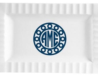 Queensquare Ceramic Platter - Circle/Circle Design