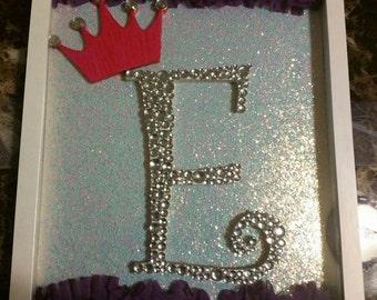 Princess custom monogram frame