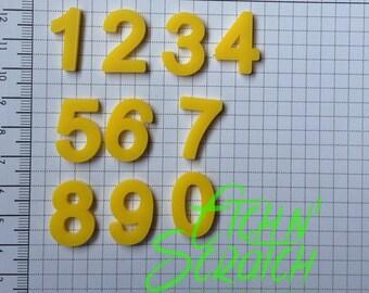 Acrylic Numbers 0-9