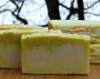 Lime Basil Mango Soap / Complexion Soap/ Handmade Soap / Cold Process Soap