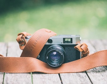 Aperpure - Luxury Leather Camera Strap - Brown
