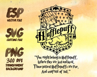 Hufflepuff home logo sloganClipart , SVG Cutting , ESP Vectors files , T shirt , iron on , sticker ,Personal Use