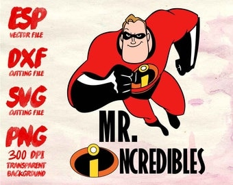 Mr. Incredibles Disney couple  Clipart , SVG Cutting , ESP Vectors files , T shirt , iron on , sticker ,Personal Use