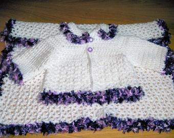 crochet baby girls set