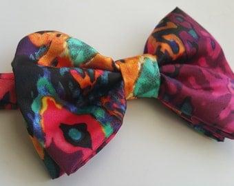 Multi colored bow tie. rainbow bow tie