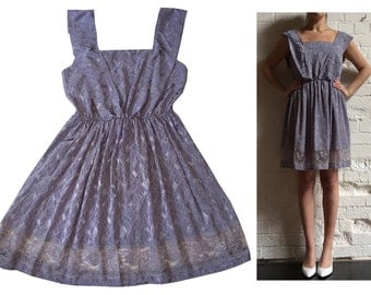Lilac & Lace Summer Dress