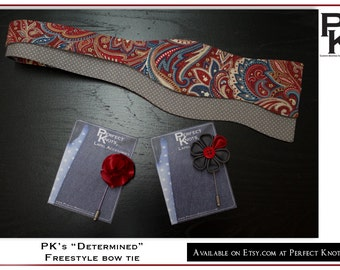 "PK's ""Determined"" Freestyle Bow Tie"