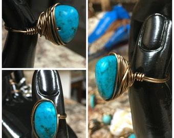 Lg. Dark Turquoise Ring