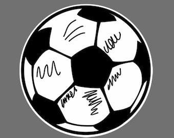 Soccer Ball Car sticker/ Decal