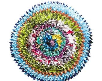 Round Ragrug Cushion Cover