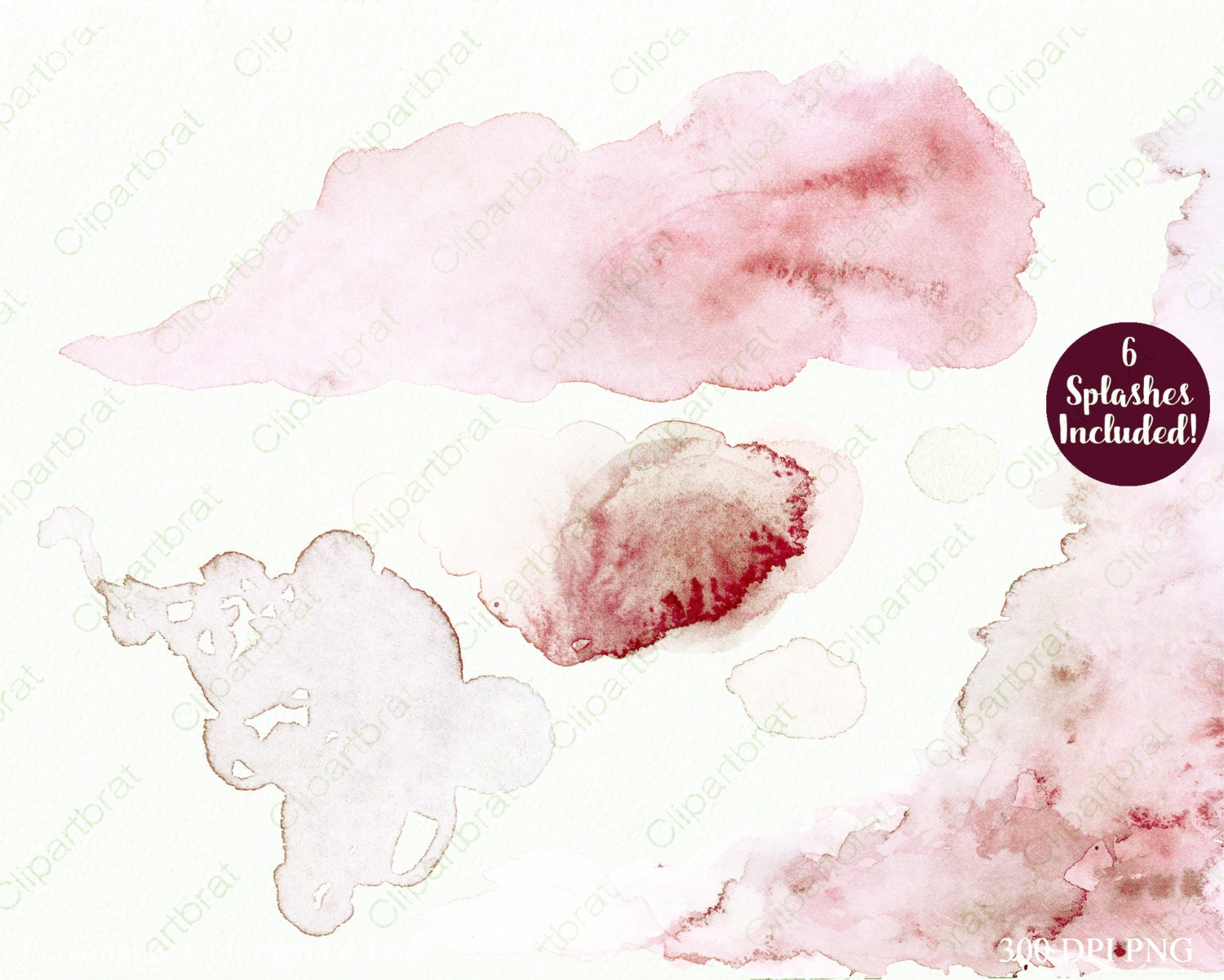 EXOTIC WATERCOLOR FLORAL Clipart Commercial Use Clip Art 38 Unique Watercolour Flowers Feathers ...
