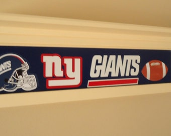 New York Giants shelf, Personalized shelf, sports shelf, New York Giants decor, custom shelf