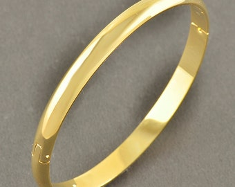 Classic Gold Filled Bangle Bracelet Hinged Free Shipping