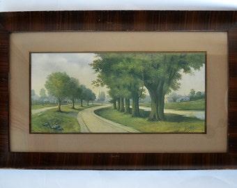 Z. T. Hadland Antique 1908 Framed Landscape Print