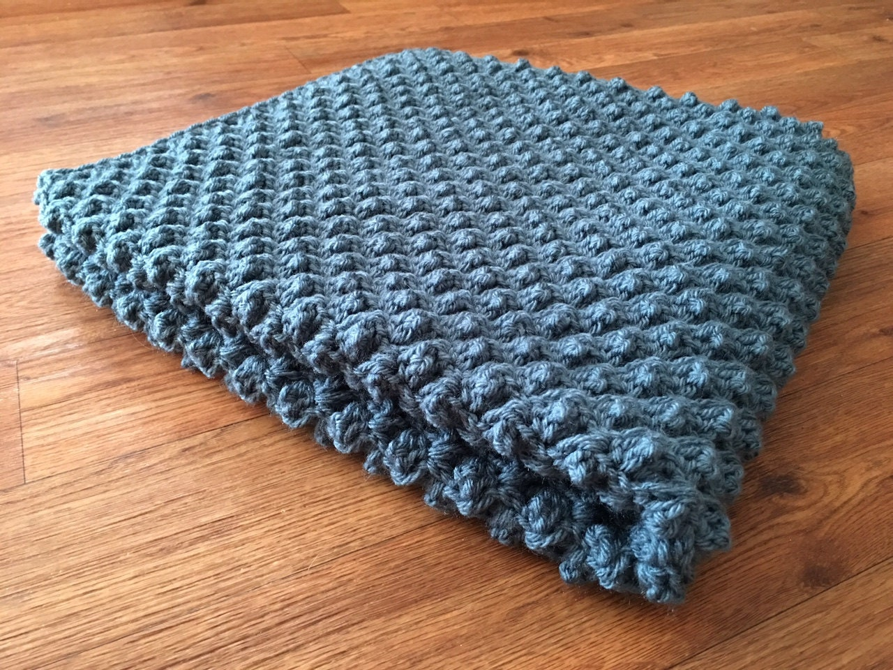 Diagonally Crocheted Puff Stitch Baby Blanket By Prettyinpicot