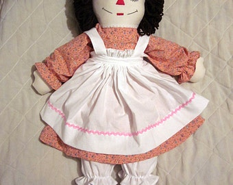 25 Inch Brown Hair Raggedy Ann Doll