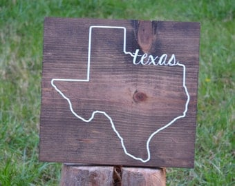 Wood Texas Sign - Texas Decor - ANY STATE - State Wood Sign - State Outline