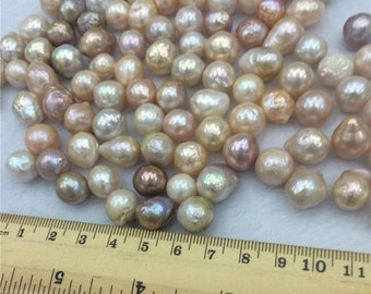 10-11mm Baroque Pearl,Freshwater Cultured Irregular Pearl,Nucleated Pearls,Cheap Edison Pearl, CLEARANCE PRICE