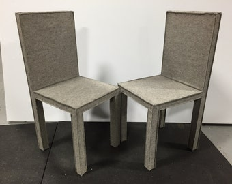 Pair of Felt Chairs by Reed and Delphine Krakoff