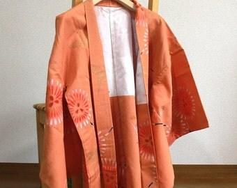 羽織 花火と折り鶴