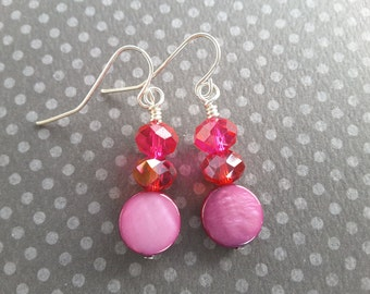 Sale! Pink, Red and Purple Dangles