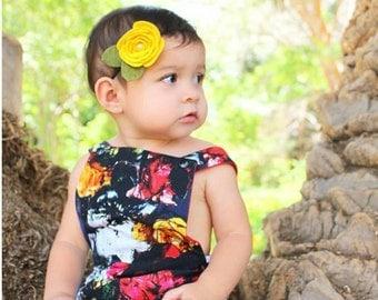 Felt Headband | Felt Flower Headband - Rosette Flower Headband - Custom Headband - Baby Headband