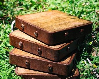 Rustic Industrial Coasters (Set of 4)