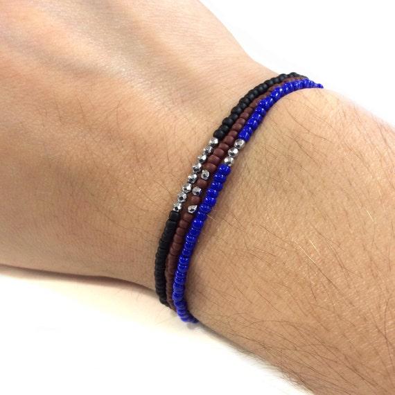 bracelet num ro porte bonheur bracelet de perles pour homme. Black Bedroom Furniture Sets. Home Design Ideas