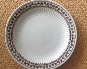 Adams Ironstone Bread Plate Made in England Sharon Brown Shamrocks Pattern