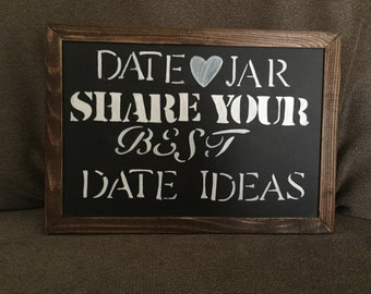 Custom-painted Date Jar Sign